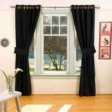 Black Living Room Curtains Ideas Black Window Curtains Interior For Modern Living Room And White