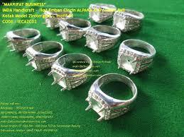ring cincin alpaka ikat emban cincin alpaka aloy perak bali kotak model zircon grad c