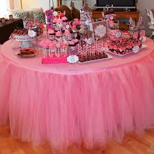 tutu baby shower theme 1pcs tulle table skirt diy tutu tableware skirts for wedding decor