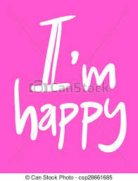 vector of i am happy message creative design of i am happy