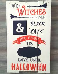 halloween countdown sign days to halloween sign countdown
