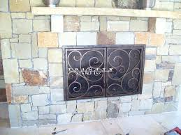 design outdoor fireplace screens wrought iron stairs mantels images hearth slab decor