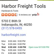 Woodworking Tools Indianapolis In by Harbor Freight Tools Hardware Stores 5703 E 86th St