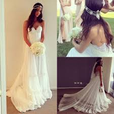 Boho Wedding Dresses Vintage Dresses Beach Wedding Dress Cheap Dropped Waist Lace