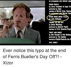 Ferris Bueller Meme - by arrangement with warner spe radio people by larry troutman zapp