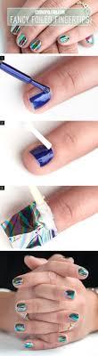 tutorial nail art foil nail art how to fancy foiled fingertips