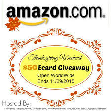 a thanksgiving weekend giveaway win an 50 ecard giveaway