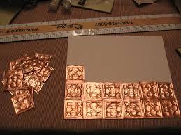 Copper Tiles For Kitchen Backsplash by Copper Ceiling Tiles Antique Copper Ceiling Tile In The Old