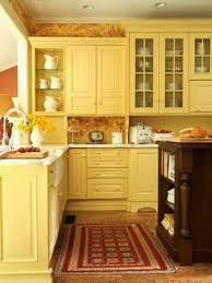 cabinet butter yellow kitchen cabinet