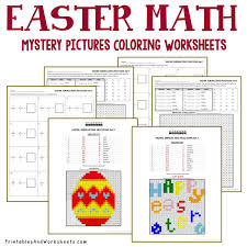 easter fractions coloring worksheets printables u0026 worksheets