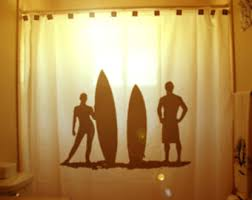 Surfer Shower Curtain Football Shower Curtain Player Bathroom Decor For Kids