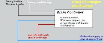 electric trailer brakes wiring diagram electric trailer brakes