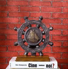 Collectible Home Decor Vintage Ship Rudder Home Decor Crafts Figurine Collectible