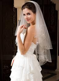 wedding veils two tier bridal veils with beaded edge 006034328 wedding