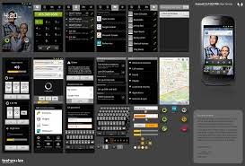 android gui designer android psd ui elements for design template that