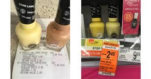 walgreens possible free sally hansen nail polish no coupons