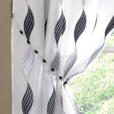 black and white kitchen curtains set different kitchen mood