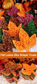 these beautiful fall leaves rice krispie treats are delicious