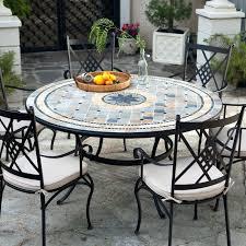 6 Seat Patio Dining Set - round outdoor seating u2013 creativealternatives co