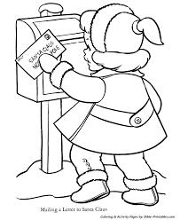 santa christmas coloring pages letter santa