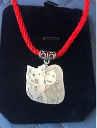 custom silver pendants personalized necklace custom necklace dog portrait necklace dog