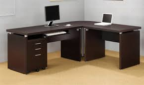 4 piece writing desk in cappuccino finish by coaster 800891