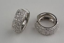 white gold huggie earrings pre owned diamond reversible huggie style earrings in 18 karat