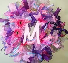 deco mesh wreath nursery hospital door hanger girls wall or