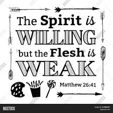 spirit willing flesh weak christian image u0026 photo bigstock