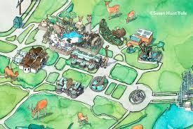 Bronx Map Susan Hunt Yule Bronx Zoo Map Detail