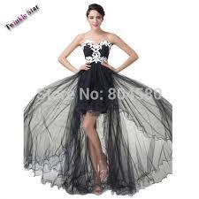long in back short 60s in front elegant strapless appliques short front long back prom dresses party