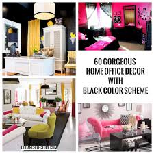 60 gorgeous home office decor with black color scheme coo