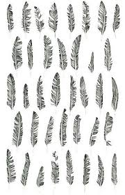 black bird feathers tattoos designs