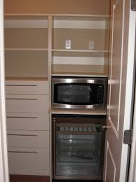 Custom Home Kitchen Pantry Closet Storage Drawers HideAway - Kitchen microwave pantry storage cabinet