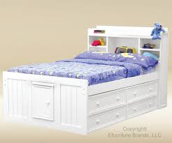 Bookcase Storage Bed Elegant Full Size White Storage Bed With Bookcase Headboard 39 For