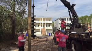 Homes On Pilings by New Home Carolina Beach Pilings Youtube