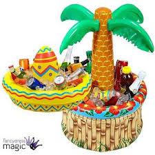 Mexican Gift Basket Inflatable Beer Drinks Cooler Wild West Mexican Hawaiian Fiesta