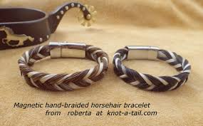 magnetic clip bracelet images Horsehair bracelets magnetic clasp horsehair braceletknot a JPG