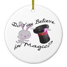 magician with bunny rabbit ornaments keepsake ornaments zazzle