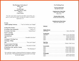 Wedding Programs Sample Wedding Program Samples Program Format