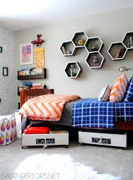 shelves for kids room diy wood honeycomb shelves jenna burger