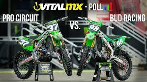 motocross pro vital mx poll pro circuit vs bud racing motocross feature