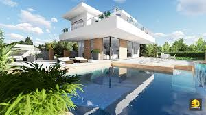 villa d architecte contemporaine infographiste architecture création de perspectives 3d