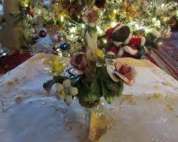 capodimonte basket of roses capodimonte flower etsy