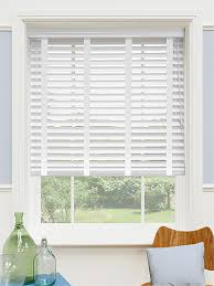 Hillarys Blinds Phone Number High Gloss Pure White U0026 White Faux Wood Blind 50mm Slat Pure