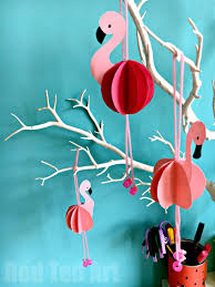 how to make room decorations easy paper flamingo decor diy summer room decor red ted art s blog