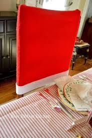santa hat chair covers blue ribbon kitchen santa claus is coming santa hat chair covers