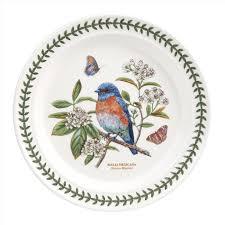portmeirion botanic garden birds set of 6 western bluebird dinner