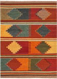Tribal Area Rug Anatolia Byzantium Flat Weave Tribal Pattern Wool Multi Area Rug