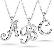 monogram necklaces silver monogram jewelry at things remembered